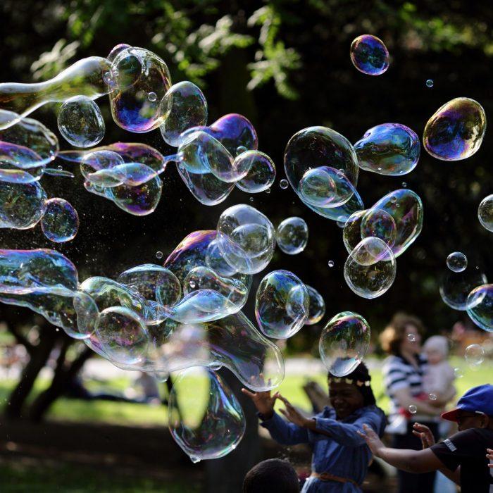 Seifenblasen und Kinder